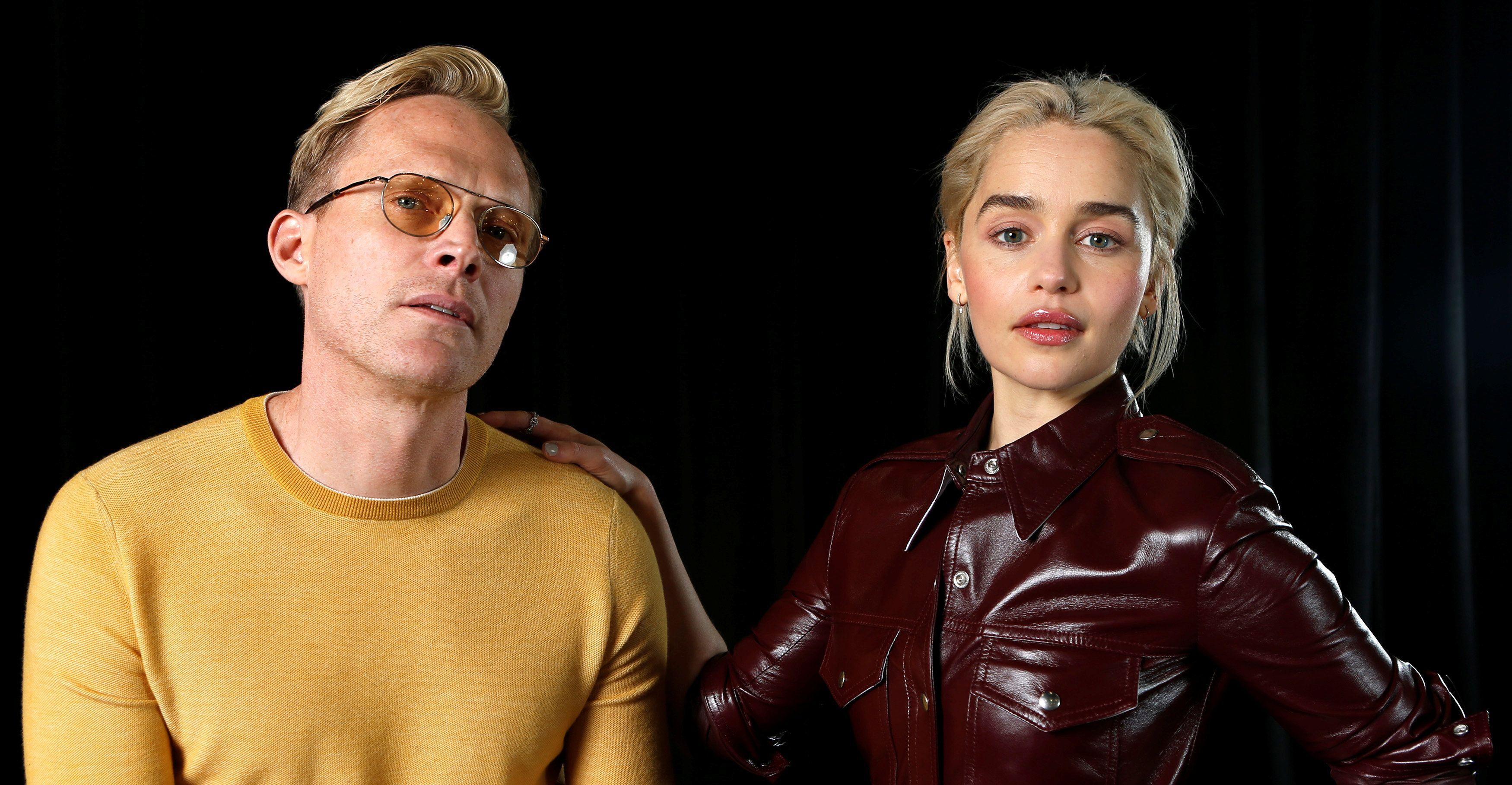 "Cast members Paul Bettany and Emilia Clarke pose for a portrait while promoting the movie ""Solo: A Star Wars Story"" in Pasadena, California, U.S., May 12, 2018. REUTERS/Mario Anzuoni"