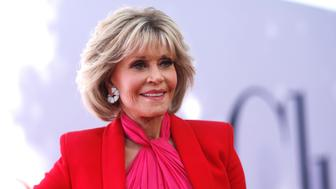 """Cast member Jane Fonda poses at the premiere for the movie """"Book Club"""" in Los Angeles, California, U.S., May 6, 2018. REUTERS/Mario Anzuoni"""