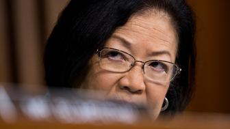 UNITED STATES - SEPTEMBER 6: Sen. Mazie Hirono, D-Hawaii, listens during the start of day three of Brett Kavanaugh's confirmation hearing to be Associate Justice of the Supreme Court in the Senate Judiciary Committee on Thursday morning, Sept. 6, 2018. (Photo By Bill Clark/CQ Roll Call)
