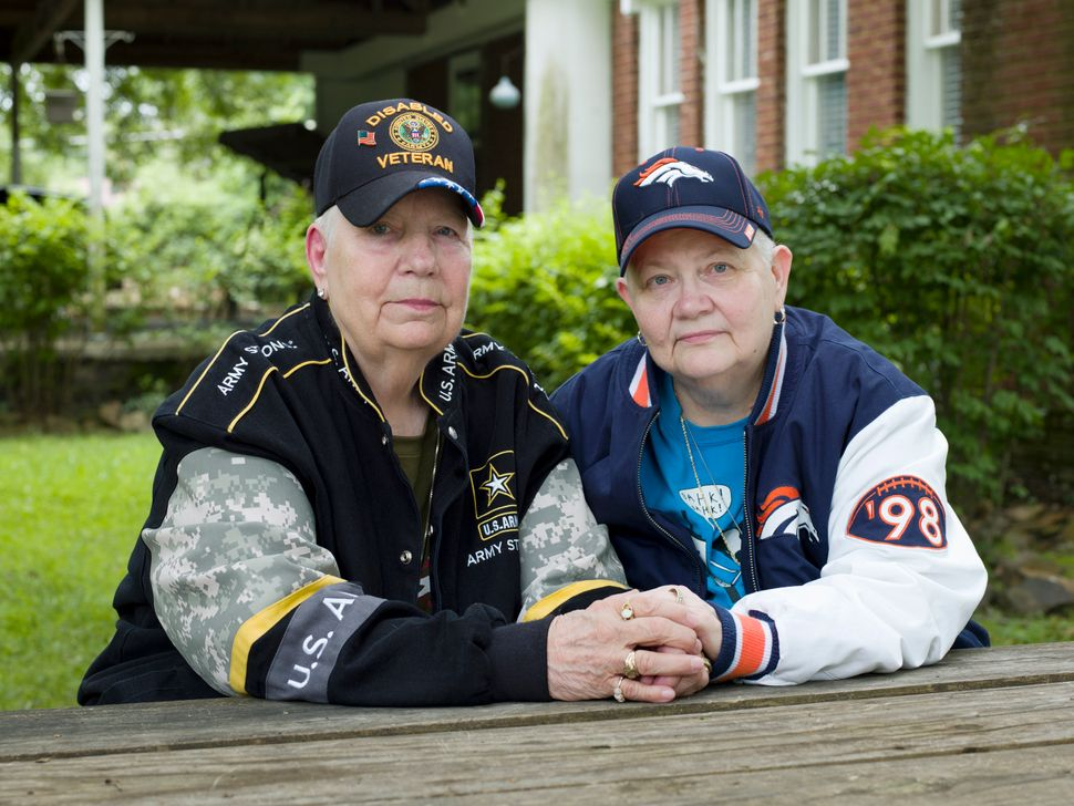 "Hank, 76, and Samm, 67, North Little Rock, Ark.<br><br>""It was a lot like in the olden days, you know, there were a lot of pe"