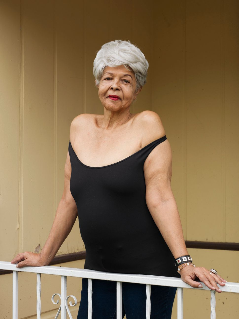 "Dutchess Milan, 69, Los Angeles""My mother said when you die, you stand there before the light, and you say, 'Was I worthy of myself to know that I have liked me?' OK? I like me. OK? And I will tell the whole chorus, honey, 'I like me.' I don't hurt anybody, I don't do anybody wrong, you know. I've dealt with everything I can, as much as I can. So just find that inside yourself and take time with that person. Faults, flaws, wishes, all of it — it doesn't matter. We're not going to get it all. None of us gets it all. OK? But what we do have, we can polish. We can polish it, honey, till it blinds them."""