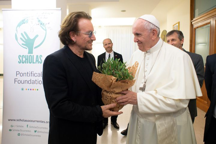 Bono and Francis had a wide-ranging conversation at the Vatican.