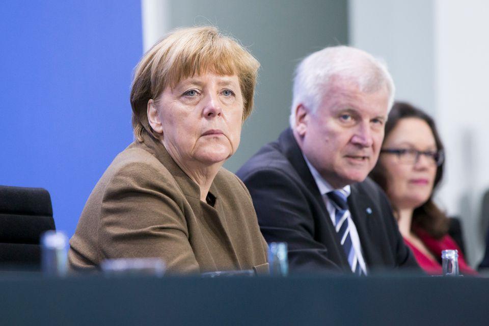 Angela Merkel, Horst Seehofer und Andrea