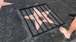 Sur le Walk of Fame de Hollywood Boulevard, l'étoile de Donald Trump mise derrière les
