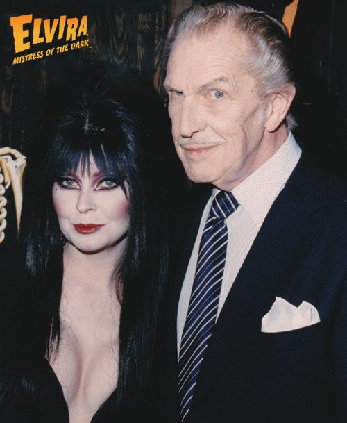 Cassandra Peterson and Vincent Price. Peterson won the Vincent Price Award in July.