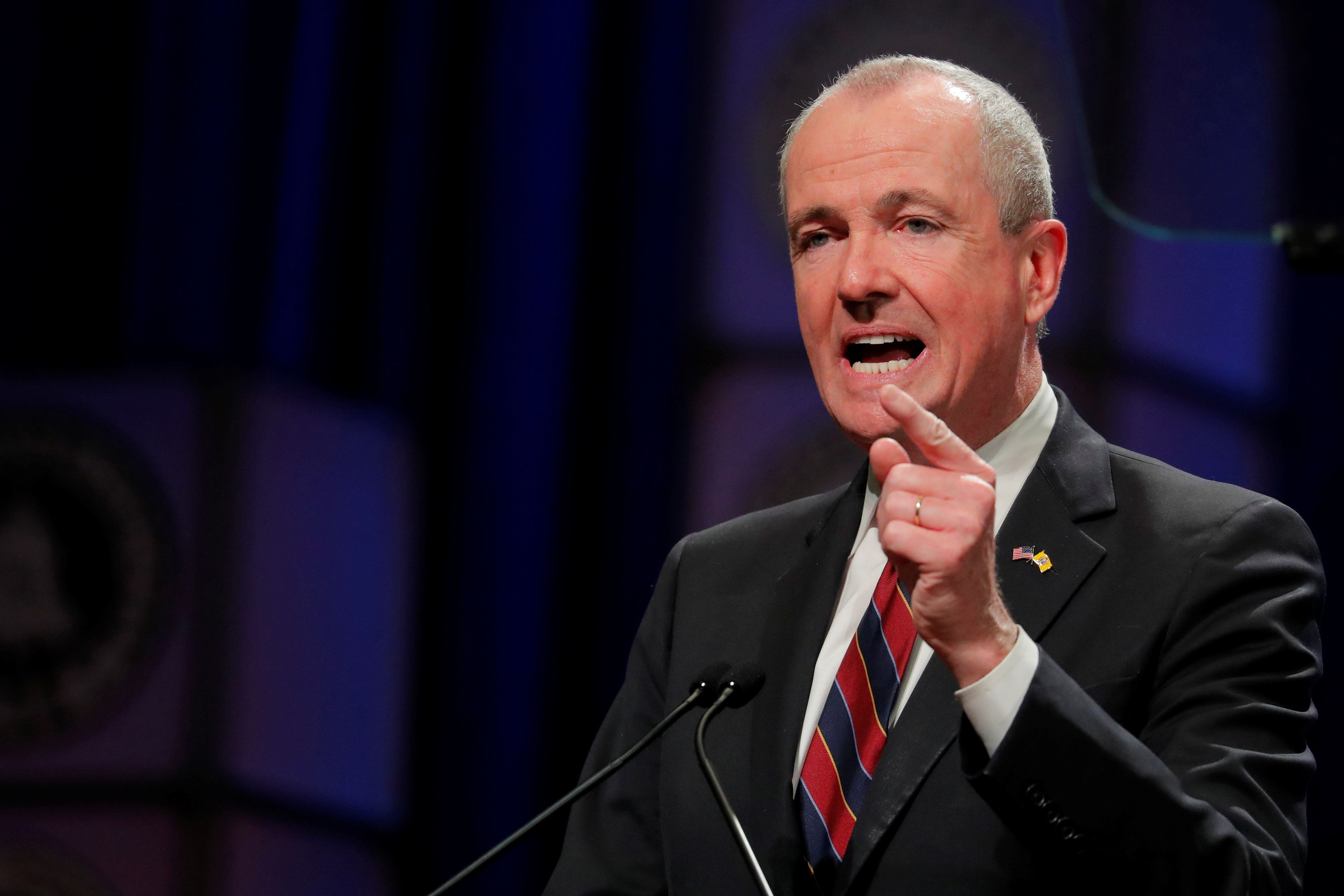 Newly sworn in New Jersey Governor, Phil Murphy, speaks after taking the oath of office in Trenton, New Jersey, U.S., January 16, 2018. REUTERS/Lucas Jackson