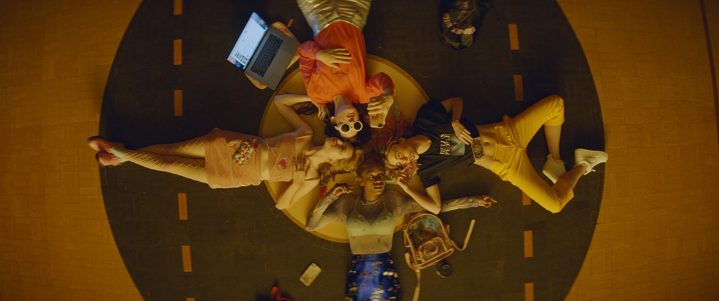 "Odessa Young, Hari Nef, Suki Waterhouse and Abra in ""Assassination Nation."""