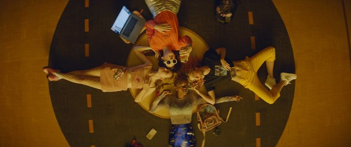 "Odessa Young, Hari Nef, Suki Waterhouse and Abra in ""Assassination Nation."""