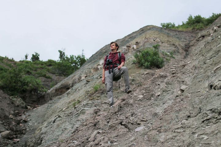 Ph.D. student Ilya Bobrovskiy traveled to remote areas of Russia to find the Dickinsonia fossils.