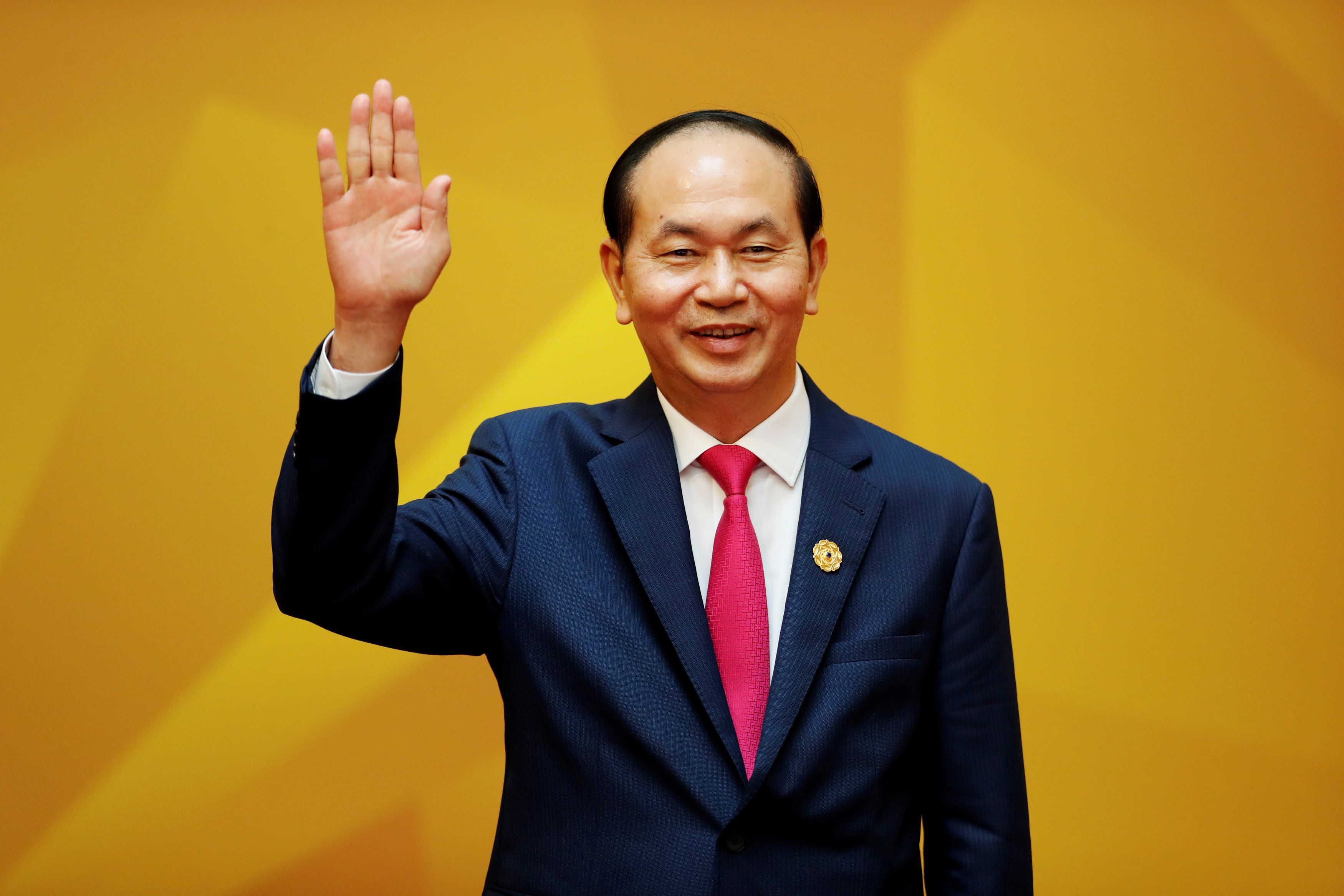 FILE PHOTO: Vietnam's President Tran Dai Quang attends the APEC Economic Leaders' Meeting in Danang, Vietnam November 11, 2017. REUTERS/Jorge Silva/File Photo