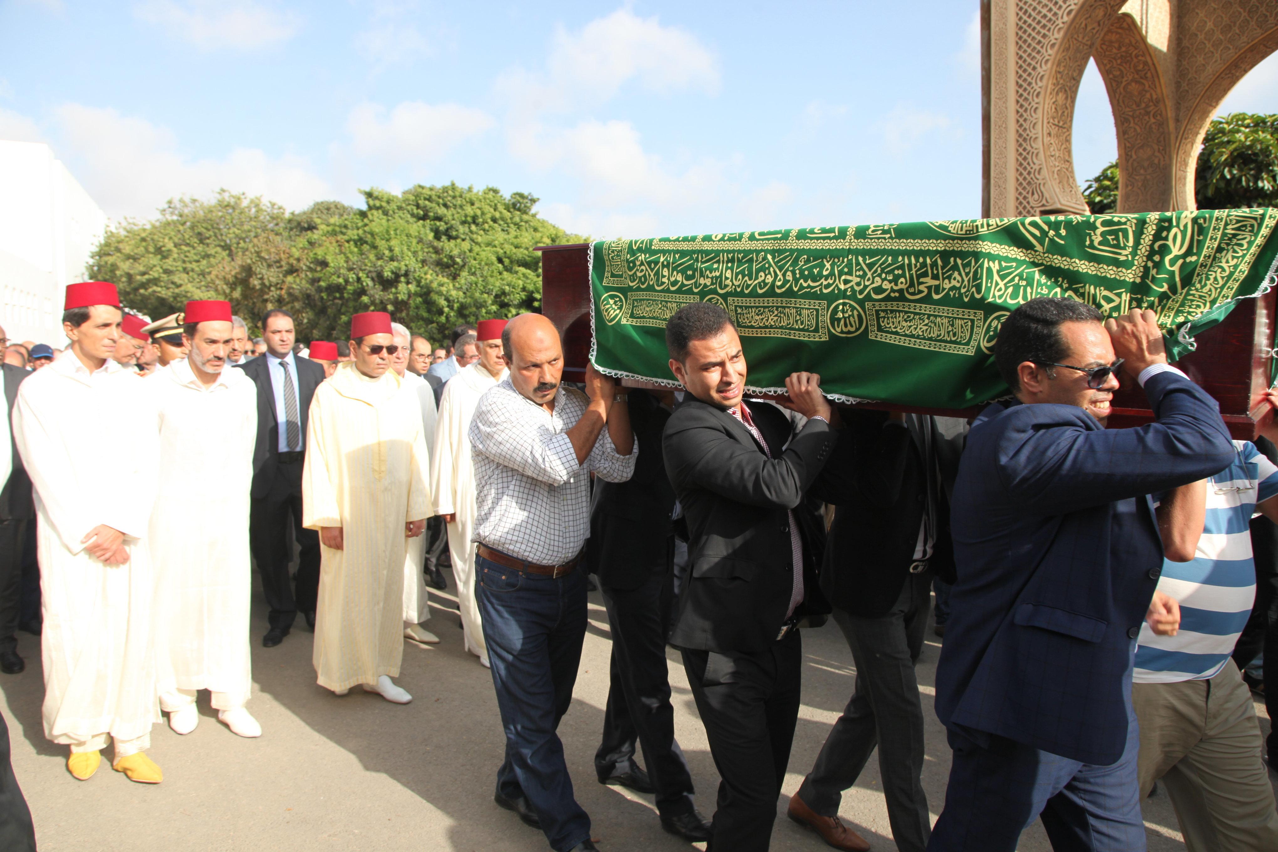 Le prince Moulay Rachid aux funérailles de l'ancien Premier ministre Mohamed Karim