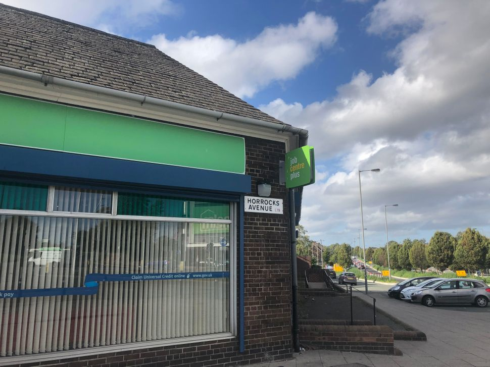 The Garston job centre, which will begin rolling out Universal Credit next