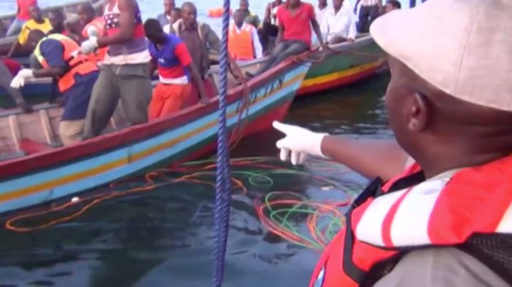 Rescue workers continue searching Lake Victoria for survivors of a ferry disaster.