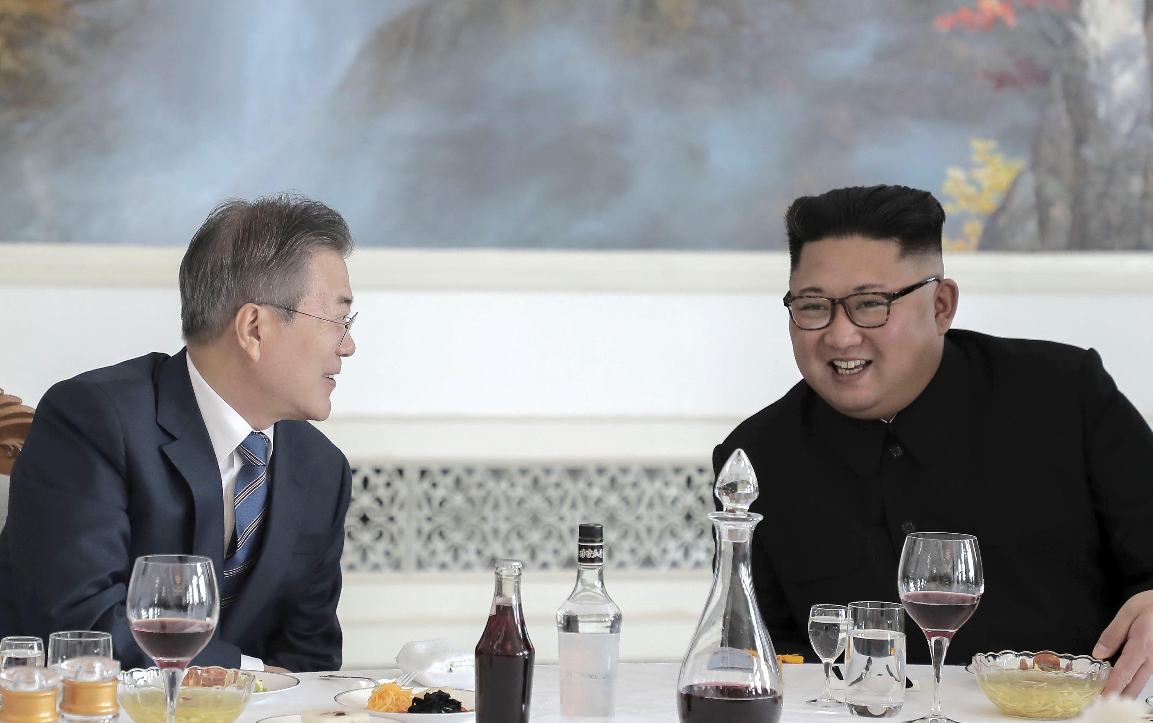 김정은은 '서울 답방'에 대해 말하던 중 '태극기부대'를