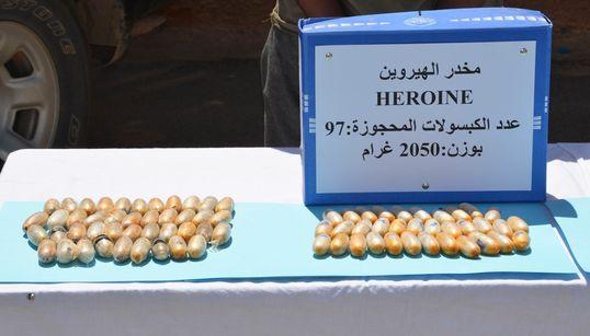 L'armée saisit plus de 2 kg d'héroïne à