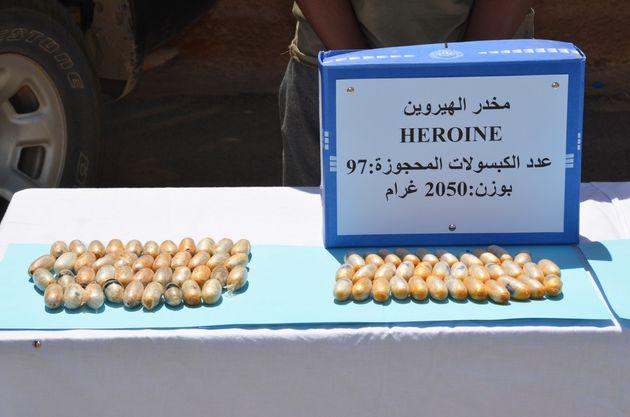 L'armée saisit plus de 2 kg d'héroïne et une quantité de cocaïne à