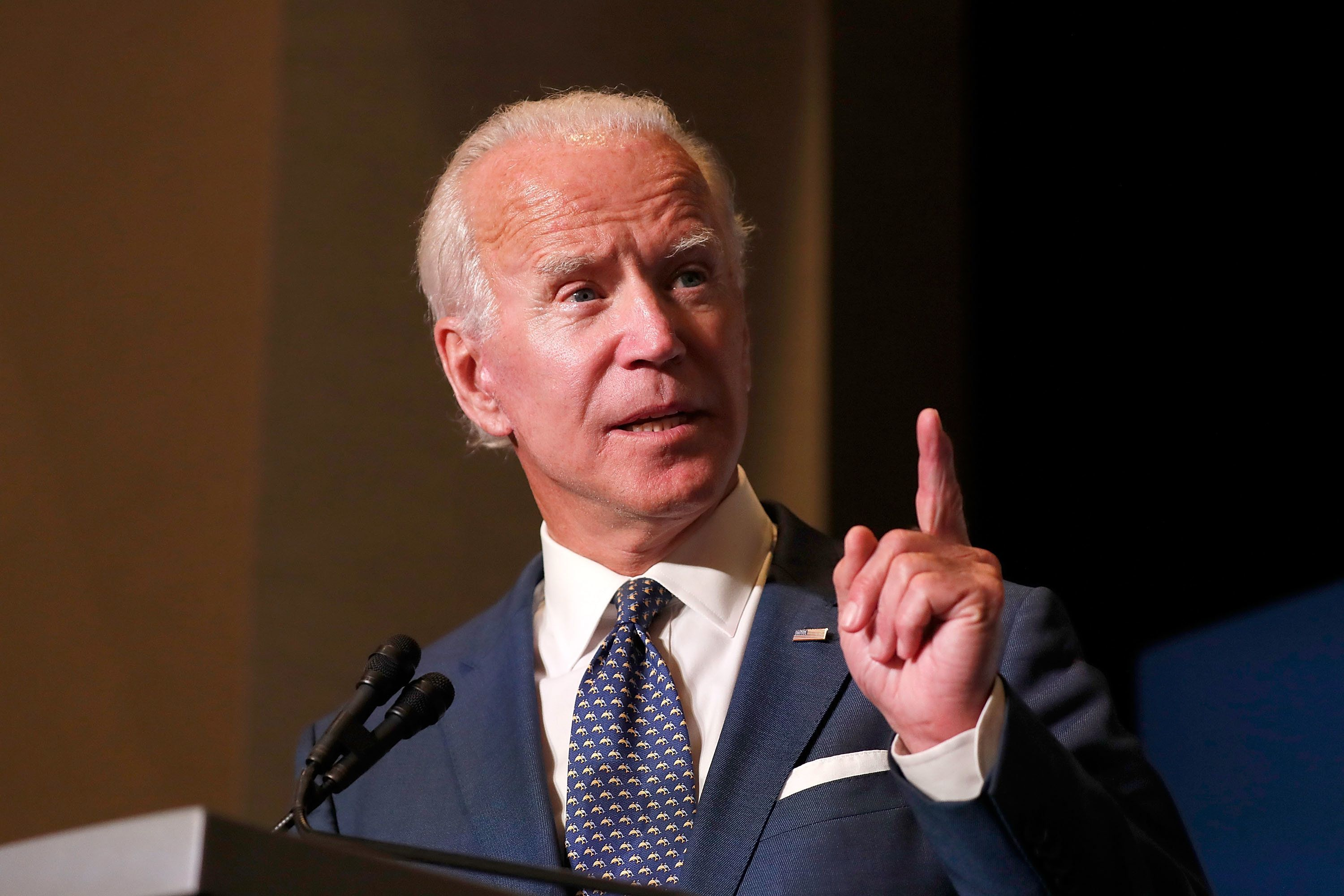 WASHINGTON, DC - SEPTEMBER 20:  Former U.S. Vice President Joe Biden speaks at the Biden Cancer Summit Welcome Reception at Intercontinental Hotel on September 20, 2018 in Washington, DC. The D.C. Summit is the flagship event of more than 450 Biden Cancer Community Summits convening on September 21, all focused on improving the cancer journey for patients, their families, and caregivers.  (Photo by Paul Morigi/Getty Images)