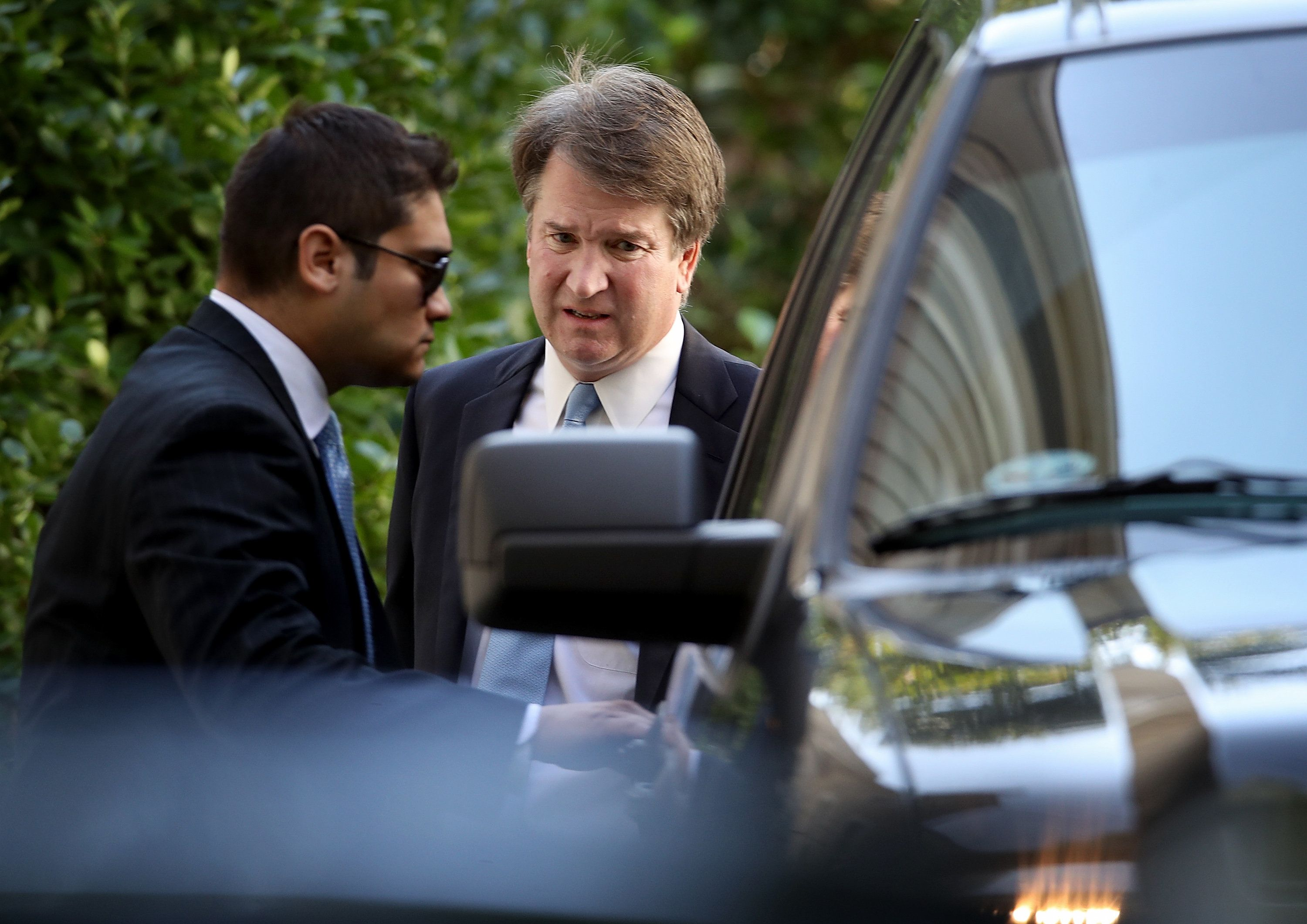 Supreme Court nominee Judge Brett Kavanaugh (R) leaves his home 19