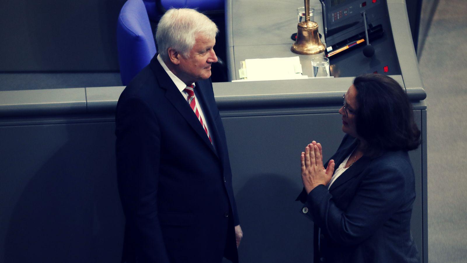 Bericht: Wie Seehofer Nahles überrumpelte –und die SPD-Chefin