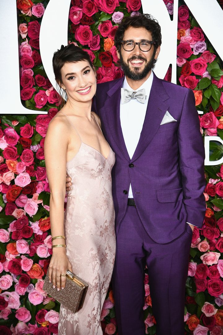 Schuyler Helford and Josh Groban attend the 72nd Annual Tony Awards at Radio City Music Hall on June 10 in New York City.