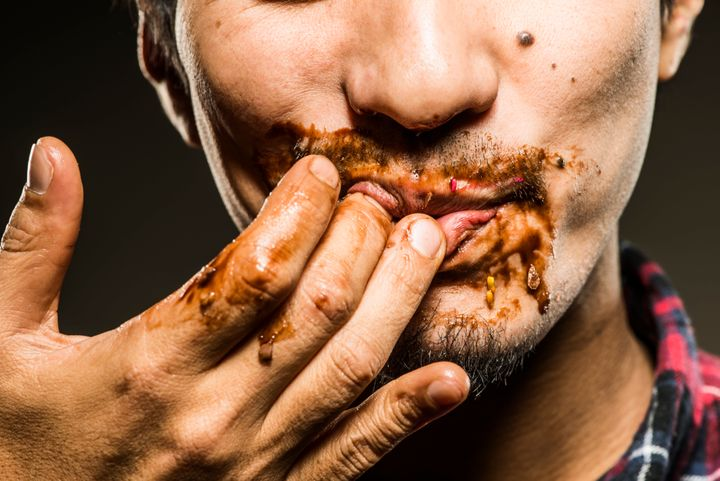Lip-smacking and finger-licking seem to be more prevalent in public these days.