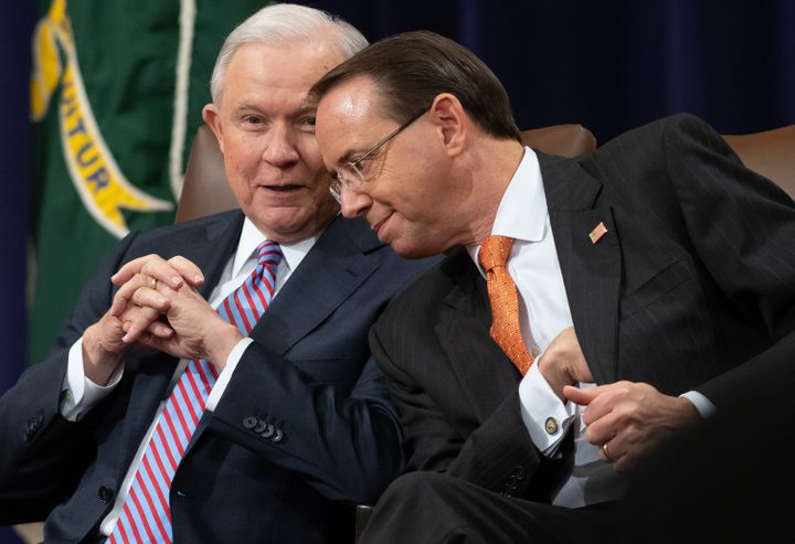 Rod Rosenstein became the top Justice Department official overseeing Mueller's investigation after Attorney General Jeff Sess