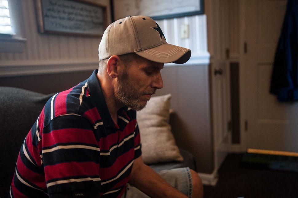 Shaun Lewis sits in the Carolina Treatment Center of Fayetteville on Wednesday.<i></i><i></i>