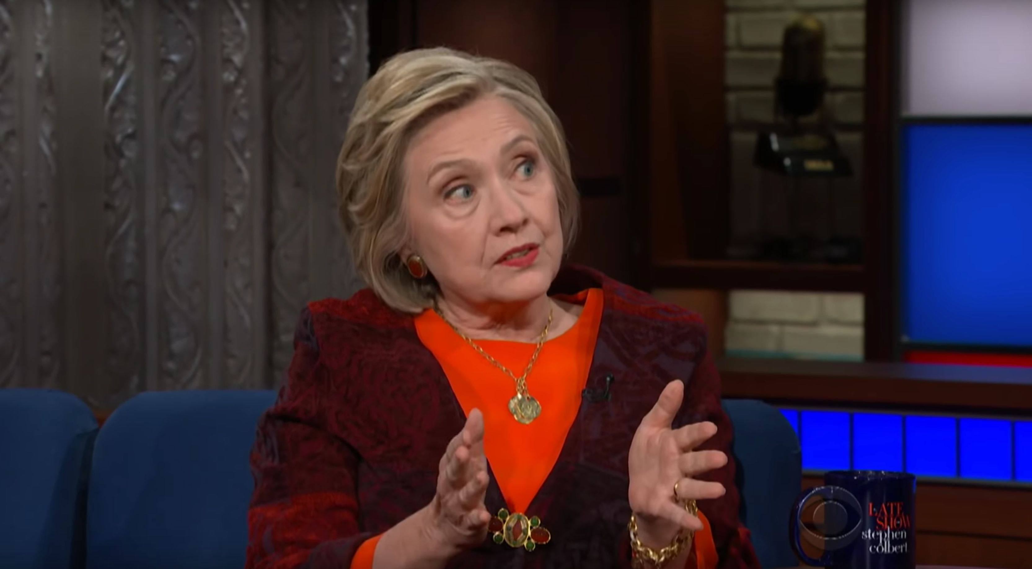 Hillary Clinton Tells Colbert 'I Never Had To Steal A Treaty' Off Obama's Desk