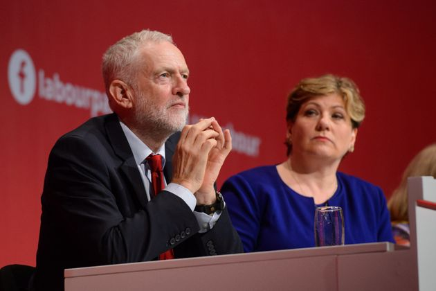 Jeremy Corbyn and shadow foreign secretary Emily Thornberry