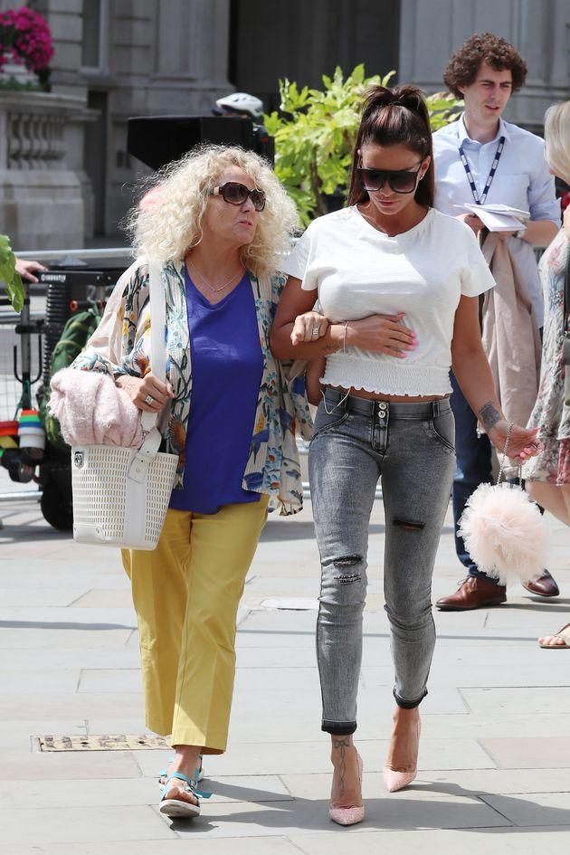 Katie with her mum