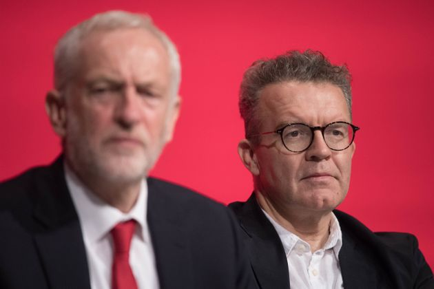 Labour leader Jeremy Corbyn (left) and deputy leader Tom Watson attend the start of their party's annual...