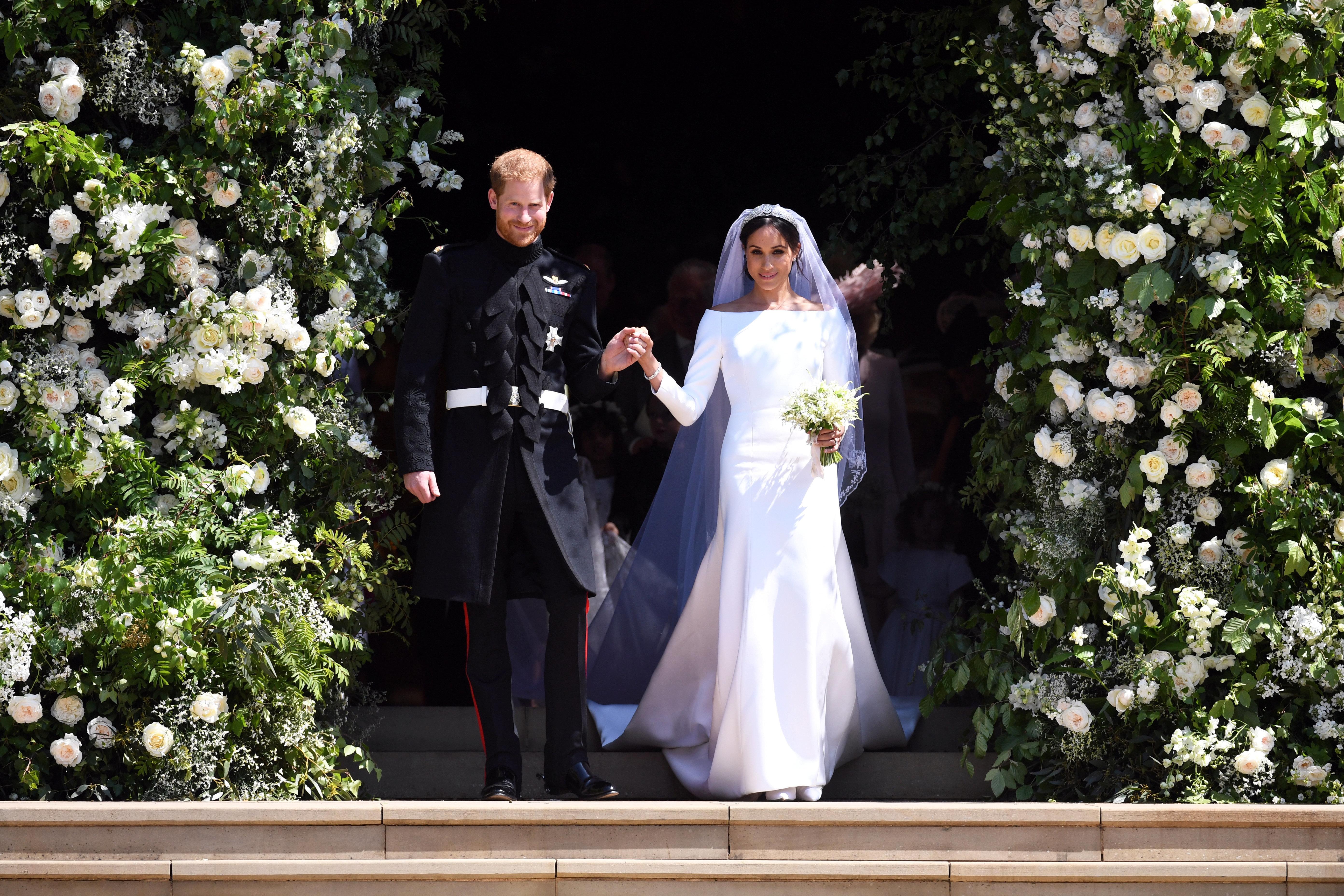 Herzogin Meghan versteckte Details im Hochzeitskleid – nicht mal Prinz Harry wusste