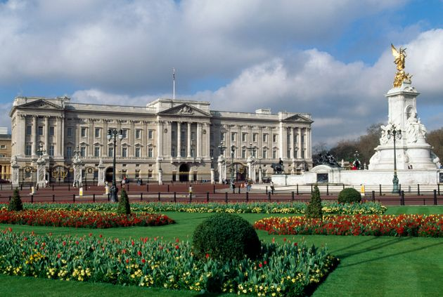 Archive photograph of the main exterior of Buckingham Palace, where Sunday's arrest took