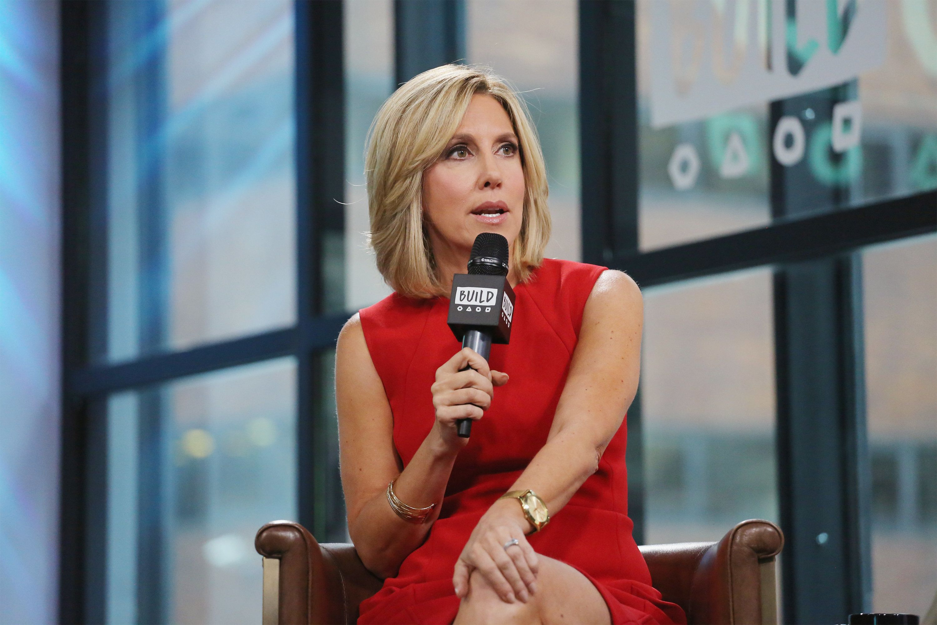 NEW YORK, NY - JULY 25:  Journalist  Alisyn Camerota visits Build to discuss her new book 'Amanda Wakes Up' at Build Studio on July 25, 2017 in New York City.  (Photo by Mireya Acierto/FilmMagic)