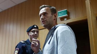 Russian opposition leader Alexei Navalny, who was recently detained over his participation in an anti-government protest in January 2018, attends a court hearing in Moscow, Russia August 27, 2018. REUTERS/Maxim Shemetov