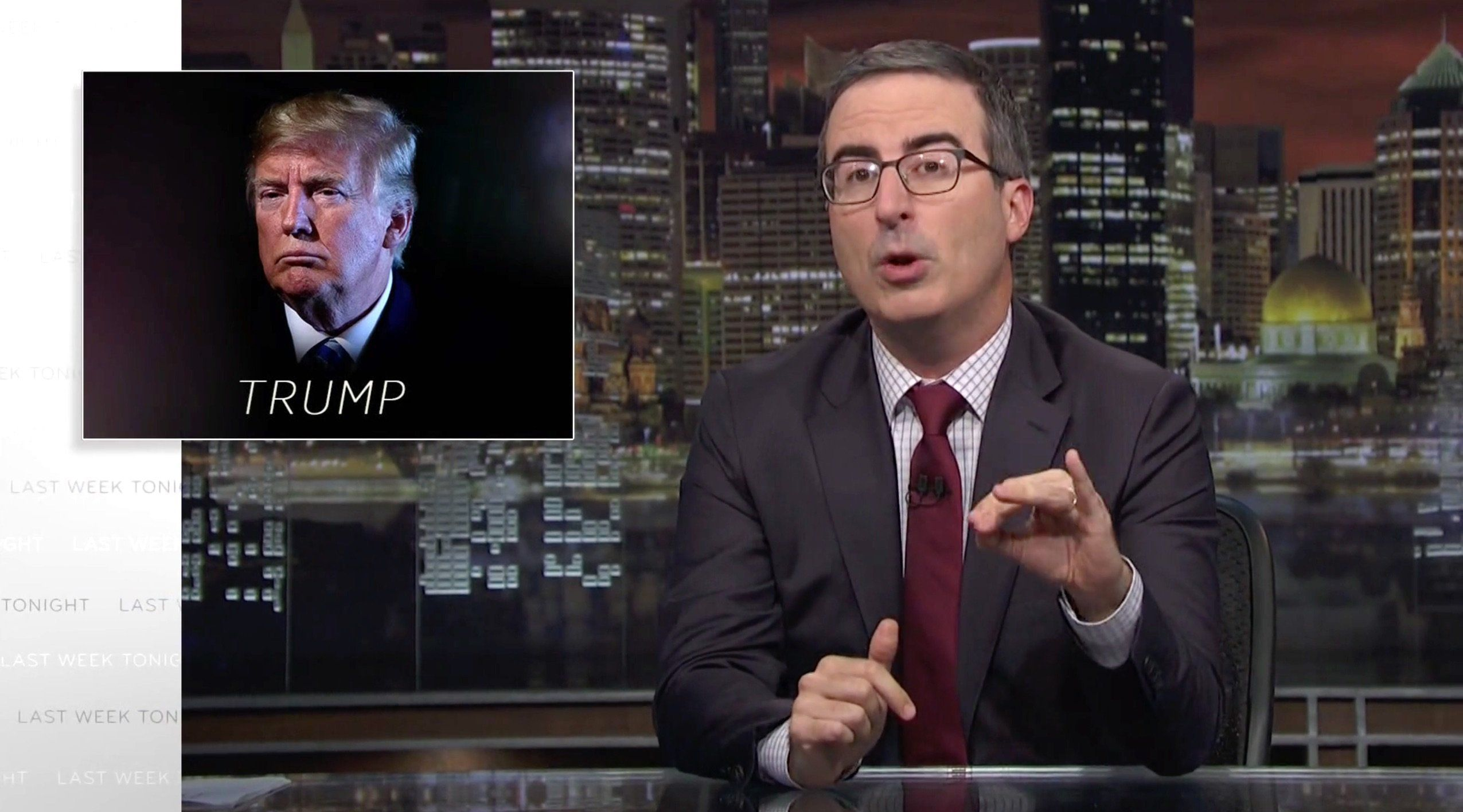 John Oliver Hits 'Sh*thead' Trump For Attacks On Kavanaugh