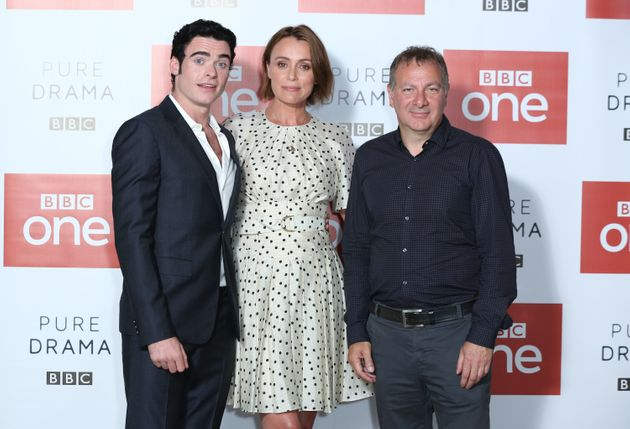 'Bodyguard' actors Richard Madden and Keeley Hawes with Jed