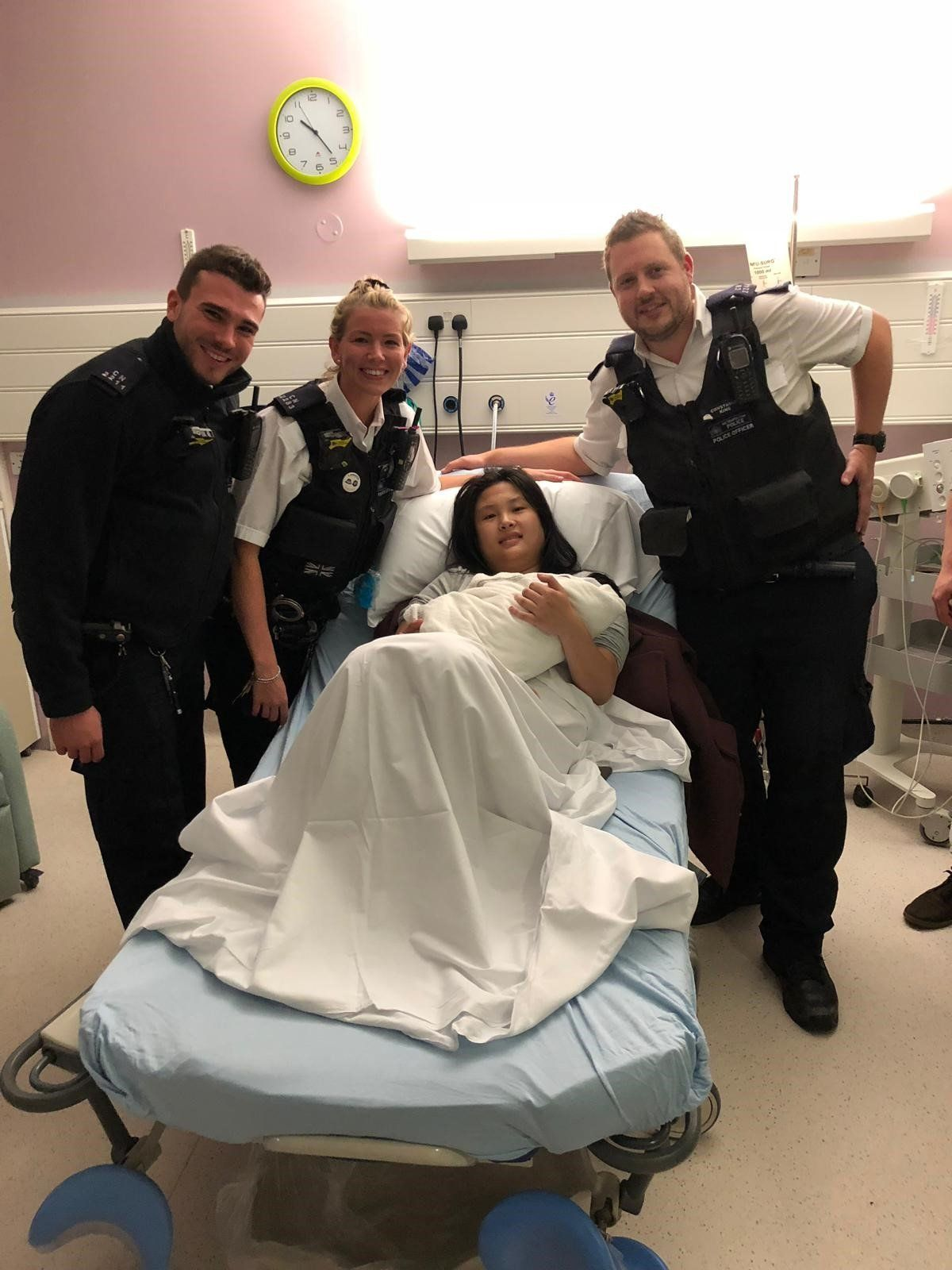 Police Officers Help Deliver Baby After Mum Went Into Labour In The