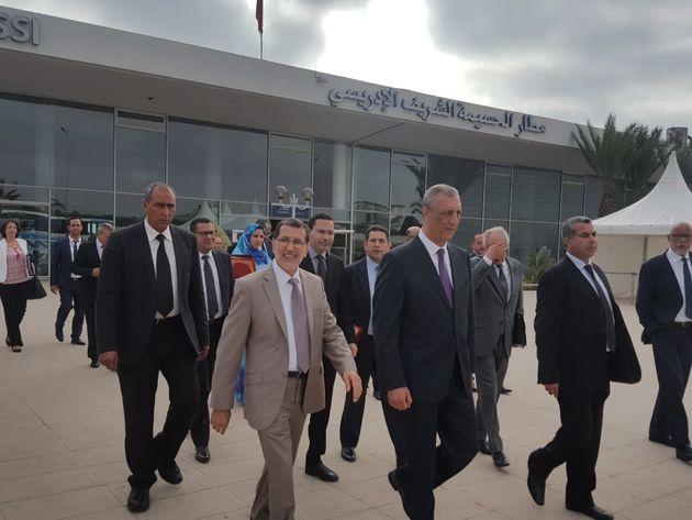 Arrivée ce lundi 24 septembre 2018 du chef du gouvernement à Al Hoceima, à l'aéroport...