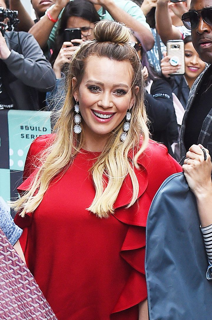"Hilary Duff arrives at BUILD Series to promote the new season of ""Younger."""