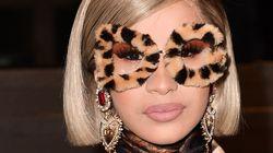 Cardi B Wears Head-To-Toe Animal Print At Dolce & Gabbana Show And It's