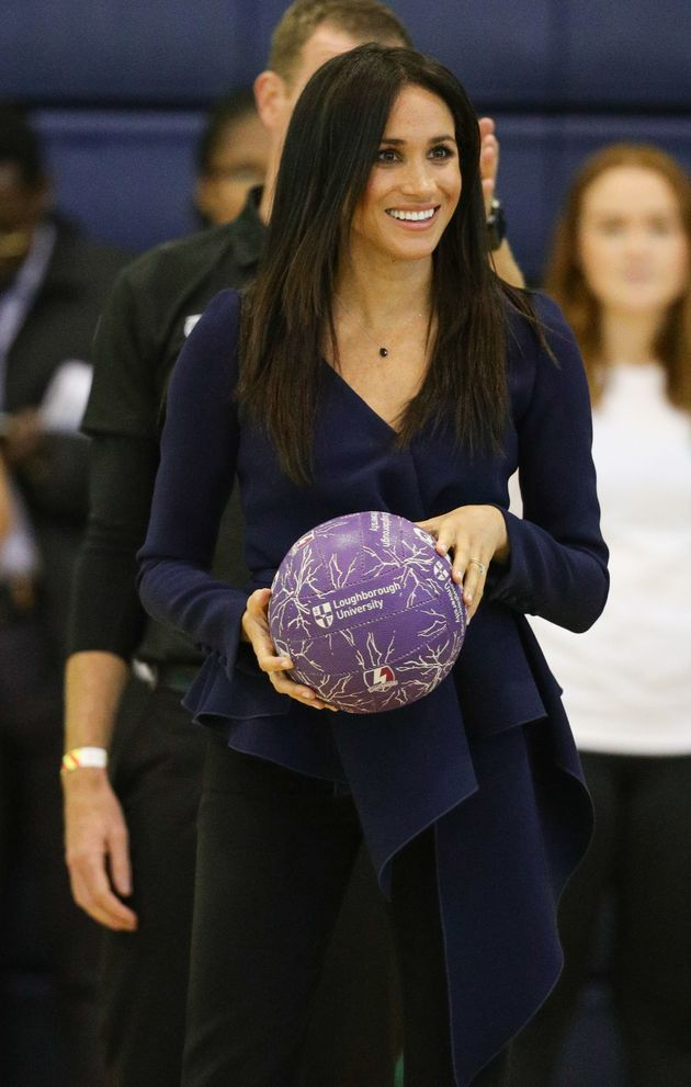 The Duchess of Sussex attends the Coach Core Awards at Loughborough