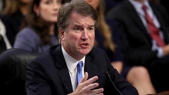 WASHINGTON, DC - SEPTEMBER 05:  Supreme Court nominee Judge Brett Kavanaugh answers questions during the second day of his Supreme Court confirmation hearing on Capitol Hill September 5, 2018 in Washington, DC. Kavanaugh was nominated by President Donald Trump to fill the vacancy on the court left by retiring Associate Justice Anthony Kennedy.  (Photo by Win McNamee/Getty Images)
