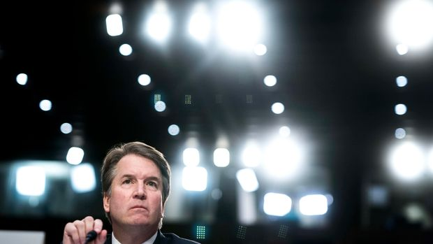 WASHINGTON, DC - Supreme Court nominee Brett Kavanaugh during his confirmation hearing in the Senate Judiciary Committee on Capitol Hill in Washington, DC on Thursday September 6, 2018. (Photo by Melina Mara/The Washington Post via Getty Images)