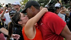 Tiger Woods And Girlfriend Erica Herman Pack On The PDA After His Big
