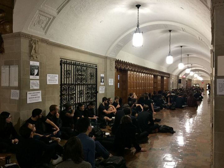 Multiple classes were canceled on Monday at Yale University's law school to help facilitate student protests.