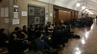 Multiple classes were canceled on Monday at Yale Universitys law school to help facilitate protests