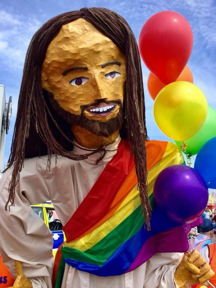 """Big Jesus"" has been in LGBTQ pride parades throughout the U.K."