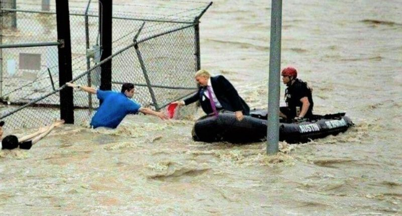 Fake Photo Of Trump Rescuing Flood Victims Goes Viral