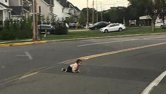 Unidentified baby in the road in Lakeland New Jersey